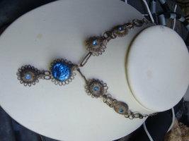 Vintage Blue stone drop necklace - $9.00