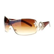Womens Shield Sunglasses Oversized Rectangular Heart Design - $9.95