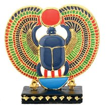 YTC Pewter Egyptian Scarab W/Sun (Gpp) Collectible Egypt Statue Figurine - $16.73