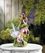 SOLAR FAIRY with Flower Garden Statue - $24.84