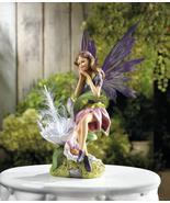 SOLAR FAIRY with Flower Garden Statue - $24.84