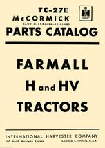 IH International Harvester Farmall H & HV Tractor PARTS Catalog MANUAL T... - $12.95