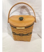 Longaberger 1998 Glad Tidings Basket w/ Lid and Protector Combo - $34.30