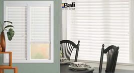 "$200 Bali Wood Plus 2""Blinds-19.5 x48-31.5 x 48 White Sandblast-Custom Set of 3 - $49.47"