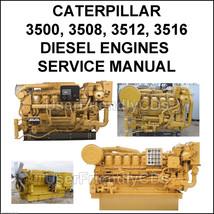 CATERPILLAR 3500 3508 3512 3516 Diesel Engines pdf Operators Service Manual CD - $14.15
