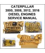 CATERPILLAR 3500 3508 3512 3516 Diesel Engines pdf Operators Service Man... - $14.15