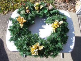 Holiday Xmas Wreath  Artificial Pine Greenery d... - $12.99