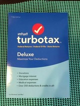 Intuit Turbotax Deluxe Federal + State 2018  Tax Software  Factory Sealed  2018 - $11.88