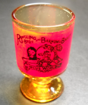 Ringling Bros Barnum and Bailey Circus Big Top Shot Glass Amber and Reds - $7.99