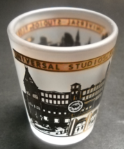 Universal Studios Florida Shot Glass Frosted Glass with Golds and Black - $6.99
