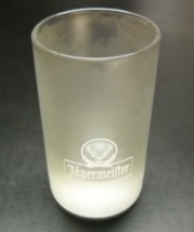 Jagermeister Shot Glass Double Size White Logo Fill Lines Name on Froste... - $8.99