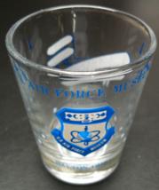 US Air Force Museum Dayton Ohio Shot Glass Blue Print Illustrations Clea... - $7.99