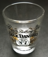 Jack Daniels Shot Glass Black Gold Clear Glass Theres Nothing Like Jack ... - $7.99