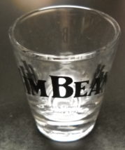 Jim Beam Shot Glass The World's Finest Bourbon Since 1795 Black Print on Clear - $6.99