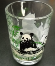 National Zoo Washington DC Double Shot Glass Pandas In a Green Bamboo Se... - $7.99