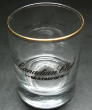 Canadian Club Candle Holder Double Shot Glass Gold Print and Rim Be A Pa... - $8.99