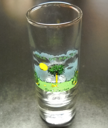 Isle Of Palms Shot Glass Tall Style South Carolina Barrier Island Idyllic Scene