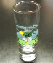 Isle Of Palms Shot Glass Tall Style South Carolina Barrier Island Idyllic Scene - $7.99