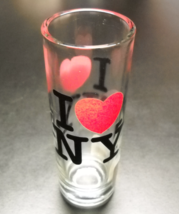 I Heart New York Shot Glass Tall Style I Love New York City Merchandise Red - $7.99