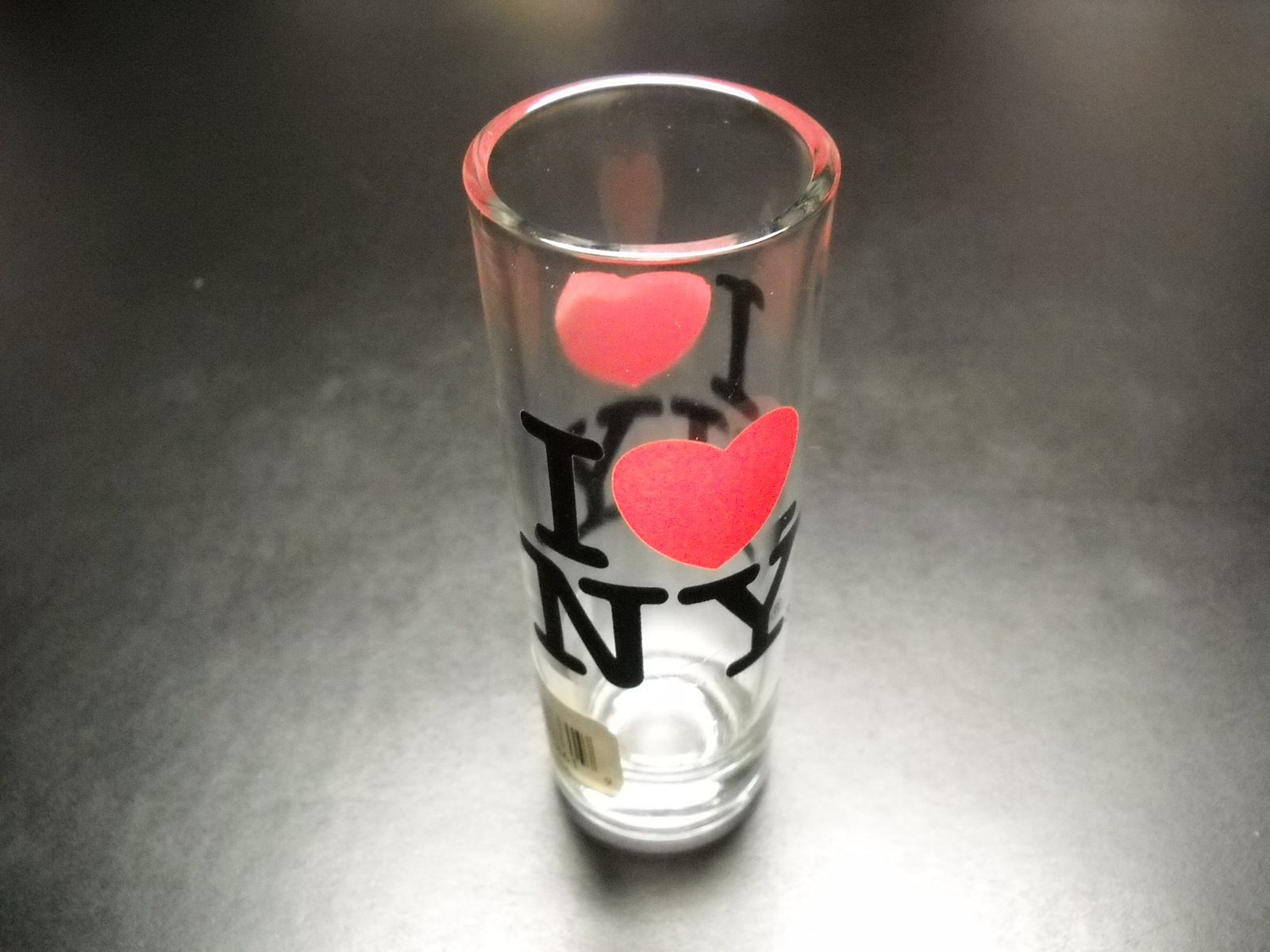 I Heart New York Shot Glass Tall Style I Love New York City Merchandise Red