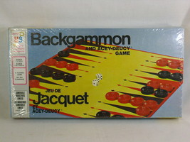 Backgammon Board Game 1973 Milton Bradley New Sealed in Plastic Bilingual - $23.02