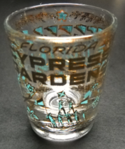 Florida Cypress Gardens Shot Glass Clear Glass with Illustrations Blues ... - $6.99