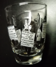 Shot Glass Old Time Drink Recipes with Ingredients Formal Wear Wearing S... - €10,29 EUR