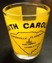 South Carolina Shot Glass Clear Glass with Yellow Wrap Around Taiwan No 20 - €6,00 EUR