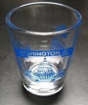 Washington DC Shot Glass Landmarks in Blue Print The White House Supreme... - $6.99