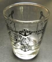 Myrtle Beach South Carolina Shot Glass Blue Print and Illustrations Clea... - €6,00 EUR