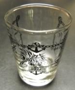 Myrtle Beach South Carolina Shot Glass Blue Print and Illustrations Clea... - $6.99