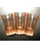 Flared Shot Glass Lot of Three Golden Amber Brown Color Flaired Style He... - $11.99