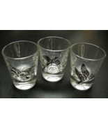 Game Bird Shot Glass Lot of Three Canvasback Ring Necked Pheasant Canada... - $12.99