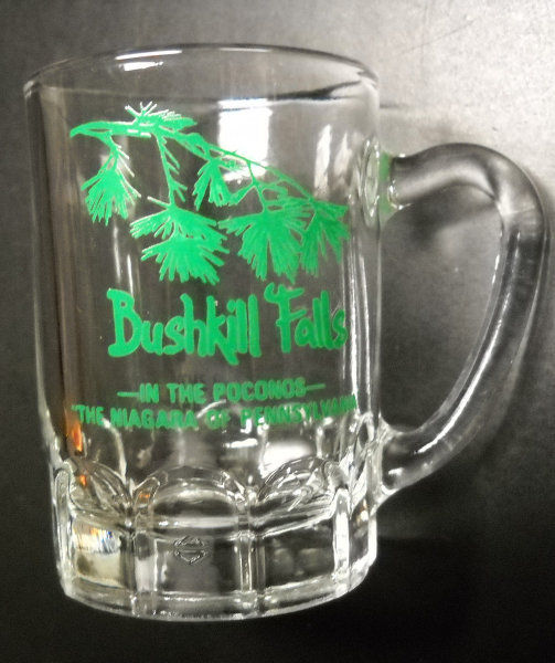 Bushkill Falls Shot Glass Mini Mug Style Poconos Niagara Falls of Pennsylvania