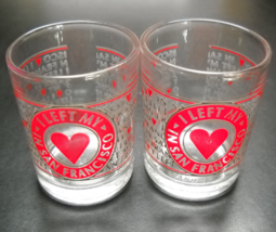 San Francisco Shot Glass Set of Two Candle Holder Style I Left My Heart ... - $12.99