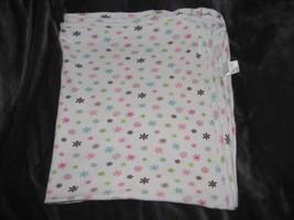 Koala Baby white pink purple flowers thermal receiving blanket waffle weave - $23.75