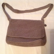 The SAK brand Messenger Crossbody Medium  Flap Closure Crochet Beige Tan... - $26.72