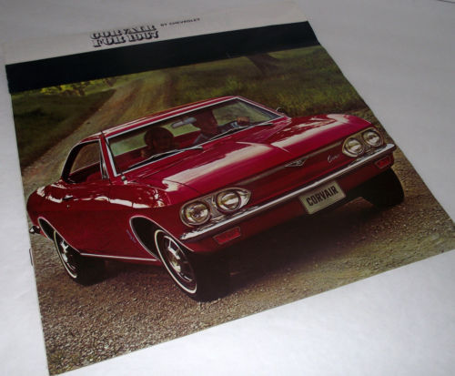 Primary image for 1967 Chevrolet Chevy Sales Car Brochure Corvair Monza 500 Car Dealership Vtg