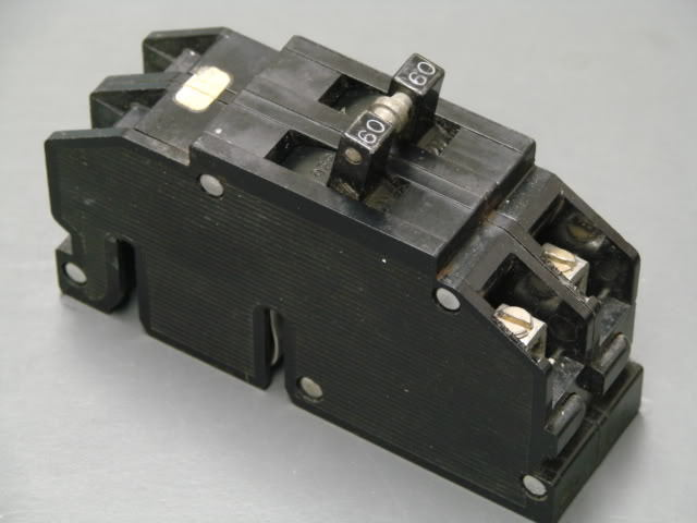 used zinsco 60 amp 2 pole type q or qc breaker 1 2 u0026quot  wide