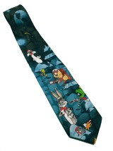 Looney Tunes Outer Space Bugs Bunny Daffy Taz Tweety Marvin Necktie Novelty - $19.80