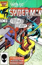 WEB of SPIDER-MAN #21 (Marvel, 1985 Series) NM! - $2.00