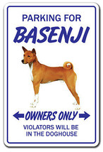 BASENJI Novelty Sign dog pet parking signs gift... - $6.88