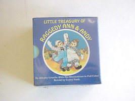 Vintage  New Little Treasury of Raggedy Ann & Andy 6 Book Set 1984 - $24.29