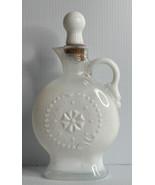 Vintage 1957 Milk Glass JIM BEAM Whiskey Empty Bottle Decanter D-334 EUC - $14.80