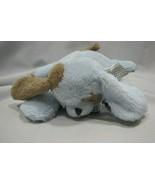 BEARINGTON STUFFED PLUSH BLUE BROWN SATIN PUPPY DOG PILLOW BABY - $19.79