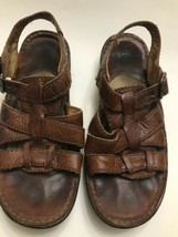 Used Woman's born sandals brown Size 7 / 38 (W81547) Strap Buckle Wide Strap - $5.69
