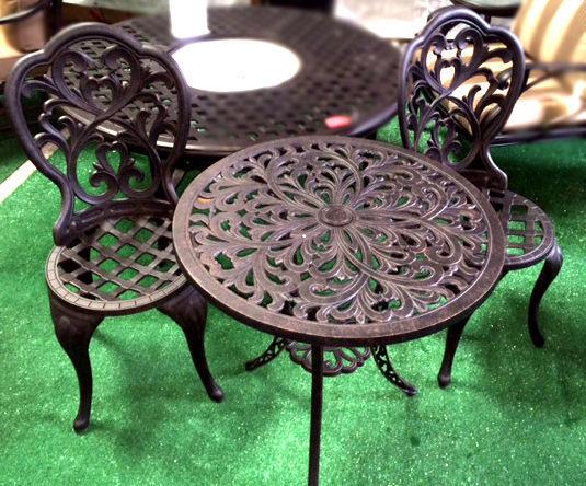 3 Piece Bistro Set Outdoor furniture cast aluminum Bronze Sunvueoutdoorliving