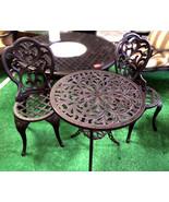 3 Piece Bistro Set Outdoor furniture cast aluminum Bronze Sunvueoutdoorl... - $220.77