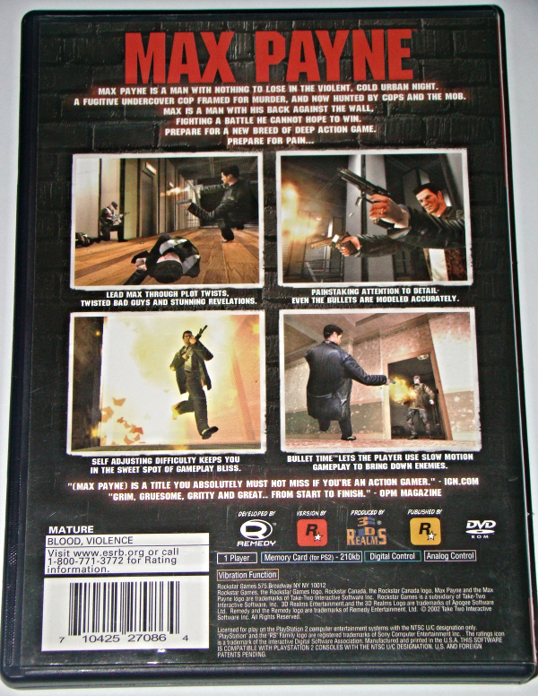 Playstation 2 Max Payne Complete With And 50 Similar Items