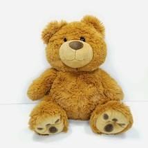 "The Petting Zoo Dark Brown Plush Bear Stuffed Animal Teddy Bear 14"" Beanie  - $19.79"